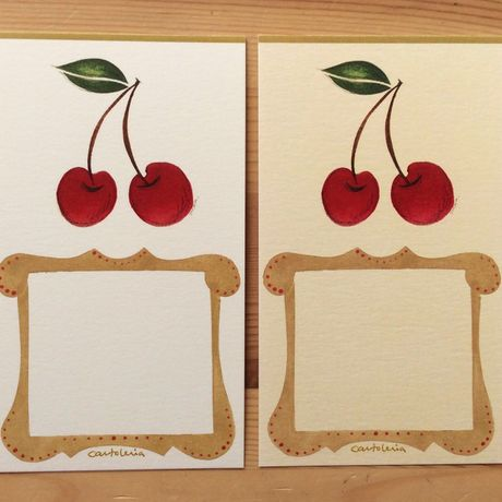"Message cards   3 Sheets set ""Fruits"""