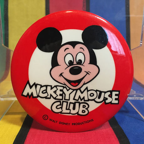Disney Mickey Mouse Club Logo Button/ディズニー ミッキーマウスクラブ ロゴ缶バッジ/160303-1