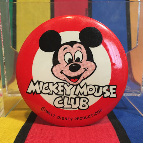 Disney Mickey Mouse Club Logo Button/ディズニー ミッキーマウスクラブ ロゴ缶バッジ/160303-2
