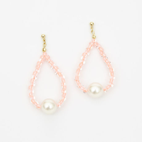 Pearl & Color Beads Pierced Earrings