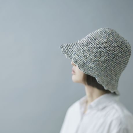 TERAIcraftment Hand-knitted Hat/ブルー