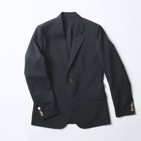 5A SILK COTTON JACKET NAVY