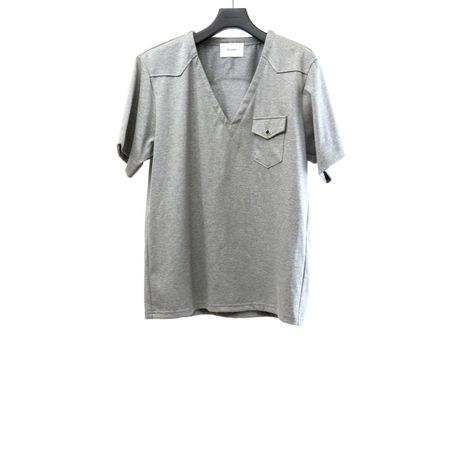 Jersey Washed S/S V Neck.