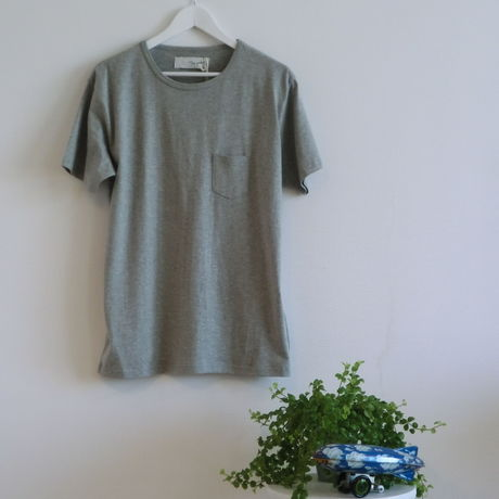 BASIC MINI-POCKET T-SHIRTS【GRAY】