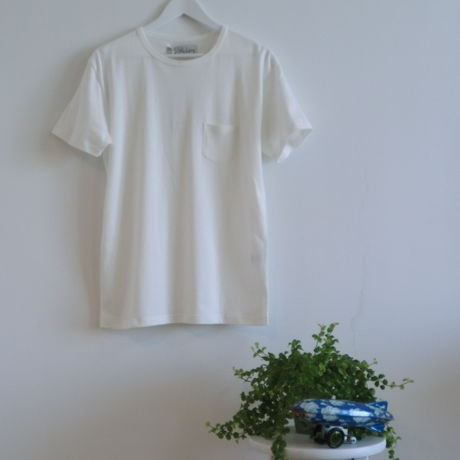 BASIC MINI-POCKET T-SHIRTS【WHITE】