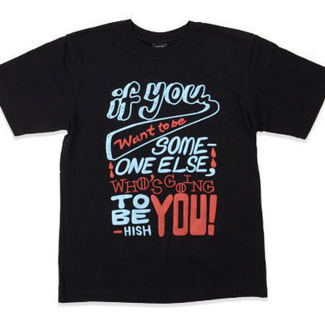 BE YOURSELF TEE BLACK