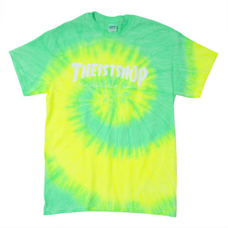 """THE 1st SHOP """"Killer St."""" TIE-DYE Tee YELLOW/LIME"""