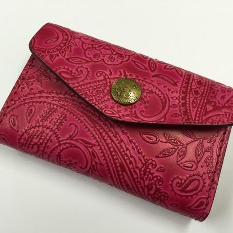 PAISLEY CARD CASE (RED)
