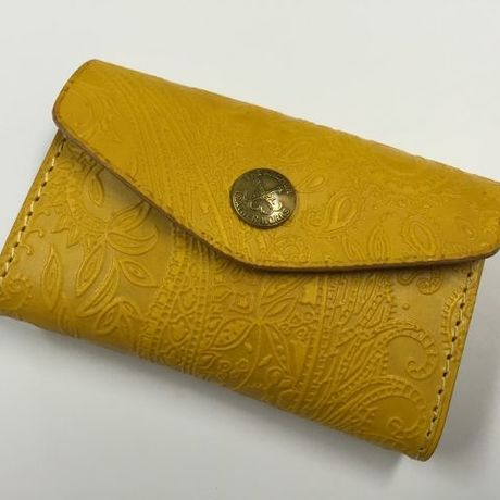 PAISLEY CARD CASE (YELLOW)