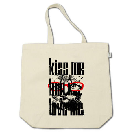 KISS ME HUG ME LOVE ME simple ver. トートバッグ