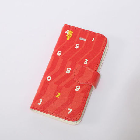 EVANGELION iPhone 5/5S Diary Case (textile design by SOU・SOU) 弐号機