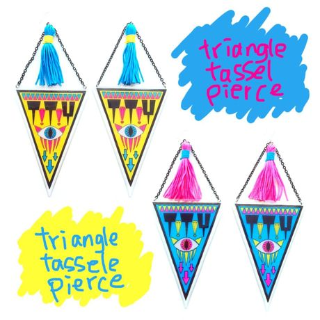 T!T!Y triangle tassel pierce