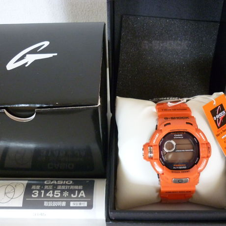 CASIO G-SHOCK RISEMAN Men in Rescue Orange