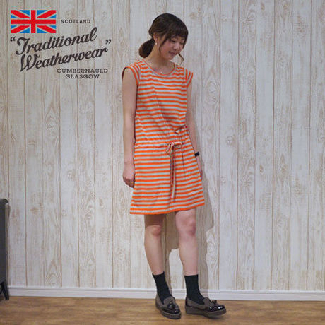 【 Traditional Weatherwear 】 MARINE FRENCH SLEEVE DRESS
