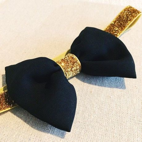 BOW Black x Glitter Gold