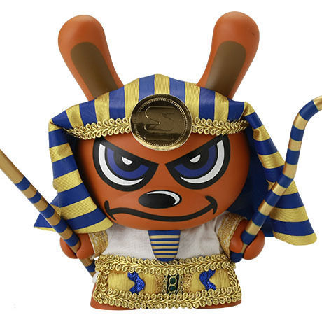 """King Tut - Blue 8"""" Dunny by Sket-One"""