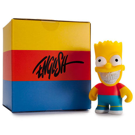 """The Simpsons- 3"""" Grin Bart by Ron English"""