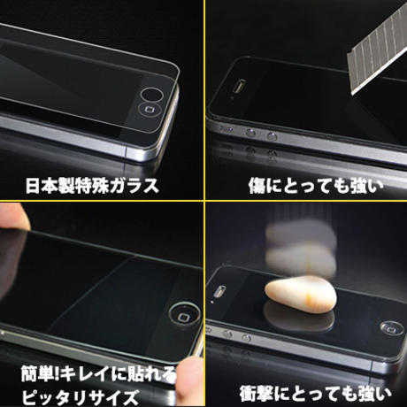 Pavoscreen 凄い!!液晶保護ガラス iPhone5S用