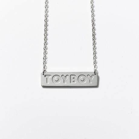 TOYBOY NECKLACE BOXLOGO SILVER925