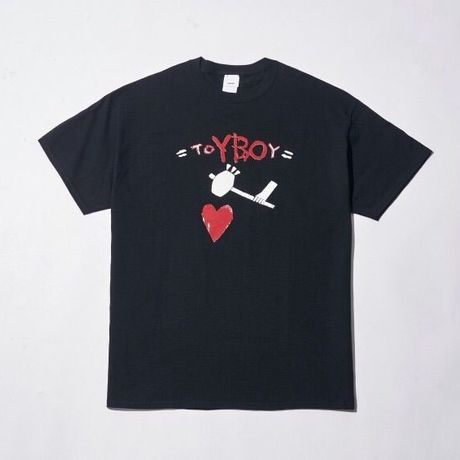 TOYBOY TEE HEART BLACK