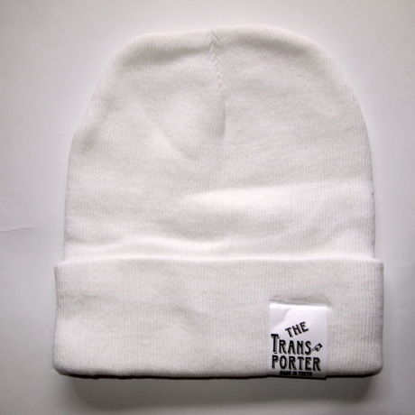 KNIT CAP-WHITE