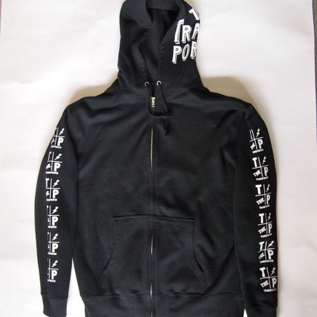 BLOCK ZIP UP PARKA BLACK