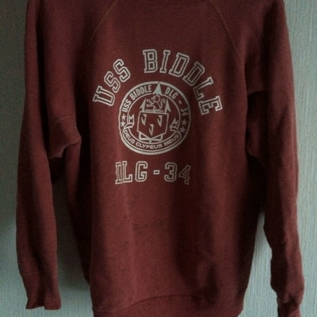 vintage college logo sweat shirt