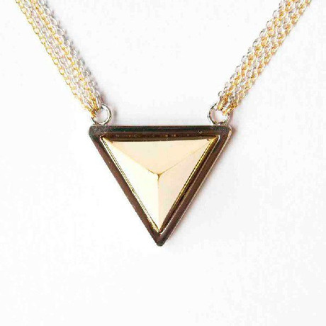 【SALE】Big Triangle Studs Neckless(SILVER/GOLD) - NaNa-NaNa / ナナナナ