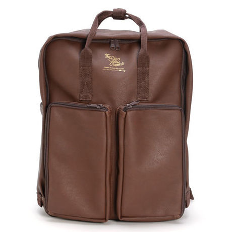 Leather BOX 2WAY DAYPACK BR