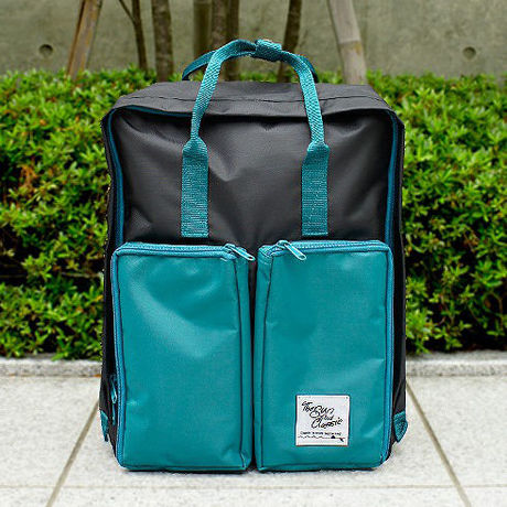 BOX 2WAY DAY PACK BK/GRN