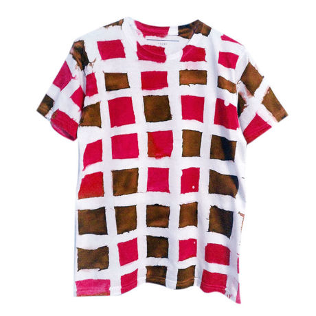 【uni】 TSUNE Lattice TEE(RED)