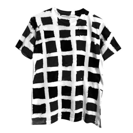 【uni】 TSUNE Lattice TEE(MONO)