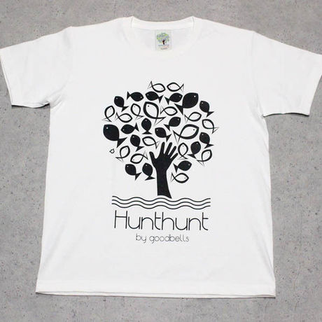 Hunthunt by goodbells / Monochrome Logo T-Shirt