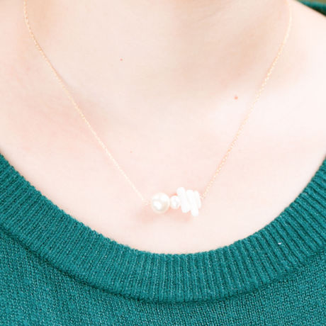 【14kgf】ui. sango necklace サンゴ ネックレス