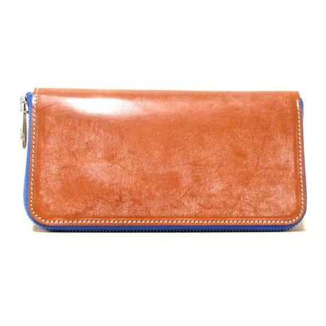 ROUND ZIP WALLET/BRIDLE BROWN