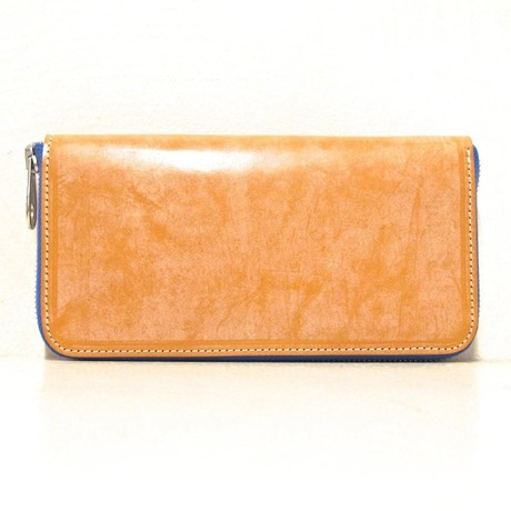 ROUND ZIP WALLET/BRIDLE TAN
