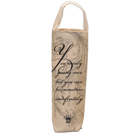 【 JKC 】ワインバッグ Canvas Wine Bag - You're only young once【 ジェシカ ケーガン クッシュマン 】【 日本未発売 】