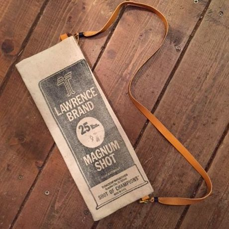 """Vintage Lead Shot Pouch、""""Lawrence"""" Black"""
