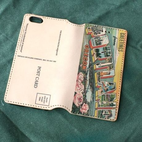 """""""Pictorial Wonderland of America"""" iPhone6/6s Leather Case, """"Portland"""""""