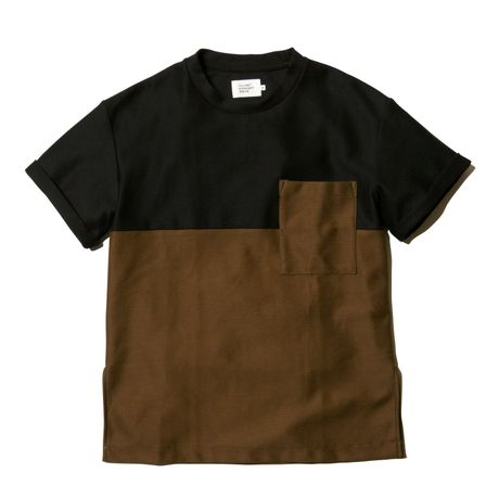 COLOR BLOCK POCKET TEE
