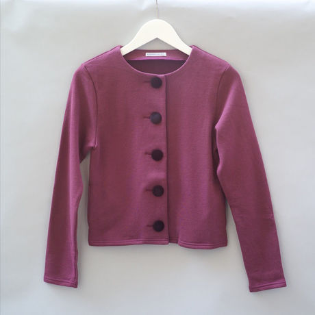 SWEAT CARDIGAN BURGUNDY