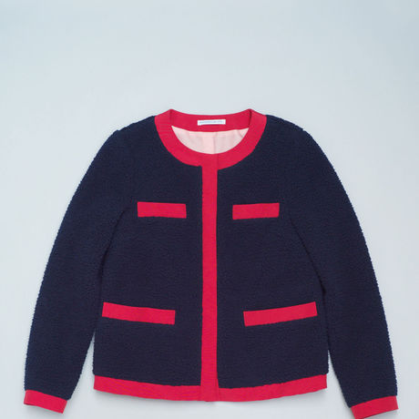 Sheep Fleece Jacket/ Navy