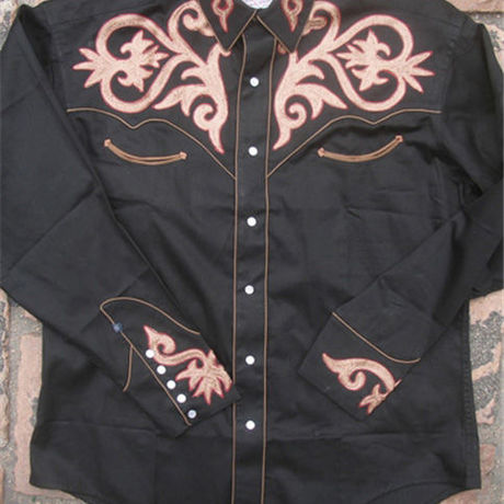 Tooled Embroidery Cotton Gab Western Shirt RM6715