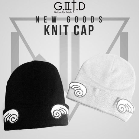 """Knit cap """"Be An Angel"""" grey or black"""