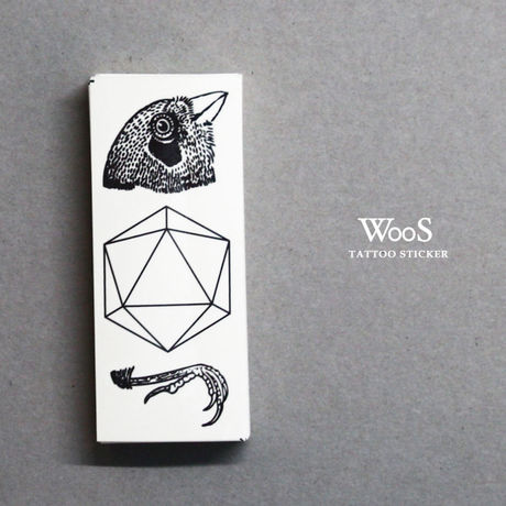 WooS tattoo sticker // 鳥