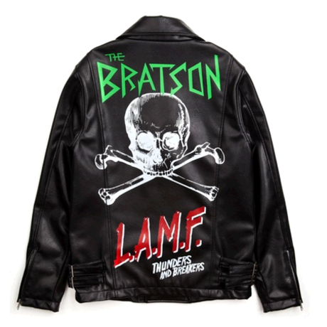 BRATSON punk leather jacket
