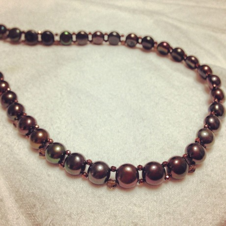 fresh water pearl classical necklace
