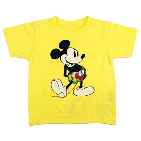 【 IRIE LIFE KID'S / アイリーライフ キッズ】IRIE Kids Tee (MICKEY MOUSE)/イエロー