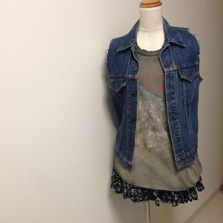 80's Levi's 70704 Denim jacket cutoff
