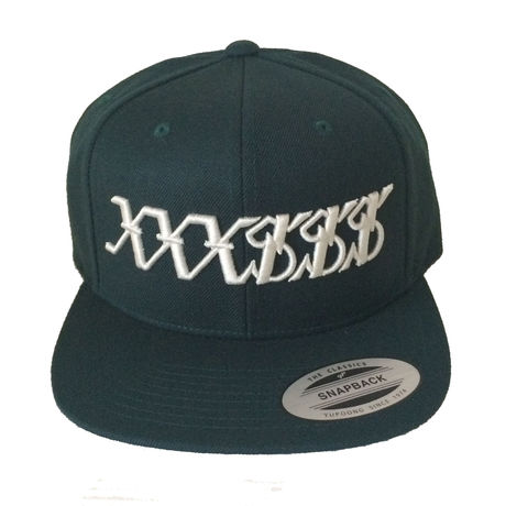 XXX$$$ Snapback (Forest Green & Creme White)